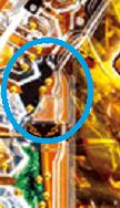 スルー周辺の釘の画像