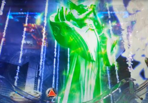 女神像ステージ緑
